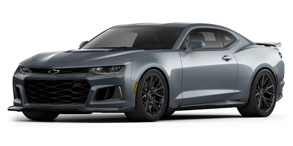 Chevrolet Camaro ZL1 2020, deportivo convertible en color stains steel gray