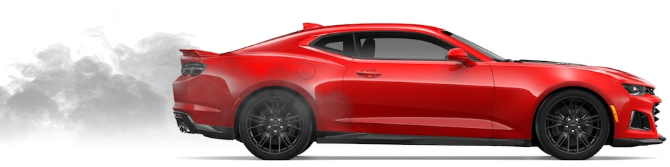 Chevrolet Camaro Coupé 2020 con sistema de escape doble salida, de acero inoxidable